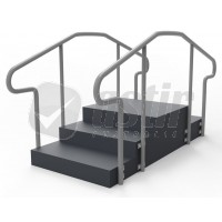 Fortress Training Stairs Straight 180° - SmartRail™
