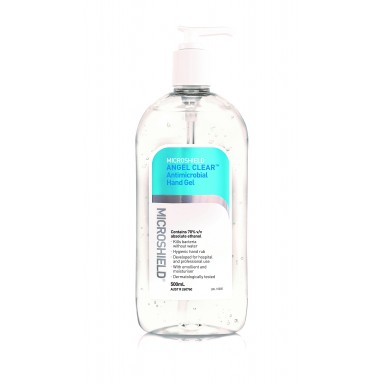 MICROSHIELD ANGEL CLEAR ANTI-MICROBIAL HAND GEL / 500ml Bottle
